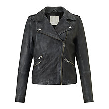 Buy Minimum Kara Leather Jacket, Dark Grey Online at johnlewis.com