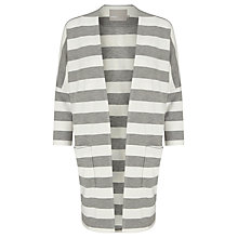 Buy Minimum Hulda Stripe Jersey Cardigan, Light Grey Online at johnlewis.com