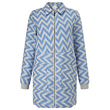 Buy Numph Karen Chevron Coat, Blue Online at johnlewis.com