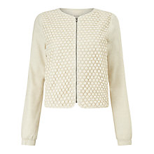 Buy Numph Donna Bomber Jacket, Birch Melange Online at johnlewis.com
