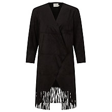 Buy Minimum Liset Fringe Kimono, Black Online at johnlewis.com