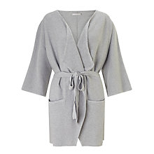 Buy Minimum Heidel Wrap Tie Cardigan, Light Grey Online at johnlewis.com