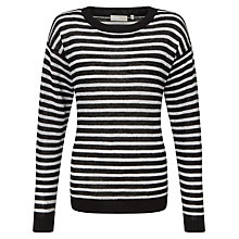 Buy Minimum Ludvikka Stripe Linen Jumper, Black/White Online at johnlewis.com