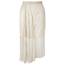 Buy Baum und Pferdgarten Selma Asymmetric Skirt, White Sand Online at johnlewis.com