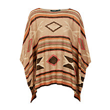 Buy Lauren Ralph Lauren Vikken Poncho, Tan Multi Online at johnlewis.com