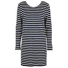 Buy Samsoe & Samsoe Damas Stripe Dress, Breton Blue Online at johnlewis.com