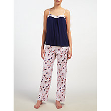 Buy John Lewis Winter Pansy Jersey Camisole Pyjama Set Online at johnlewis.com