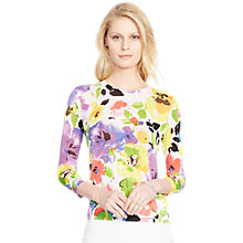 Buy Lauren Ralph Lauren Avyelle Floral Jumper, Pearl Multi Online at johnlewis.com