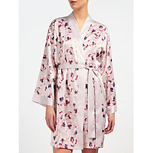 Buy John Lewis Satin Winter Pansy Robe, Ivory/Pink Online at johnlewis.com