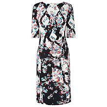 Buy L.K. Bennett Crystal Printed Fitted Dress, Black/Multi Online at johnlewis.com