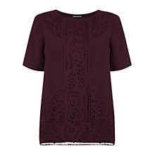 Buy Warehouse Placed Lace Tee Online at johnlewis.com