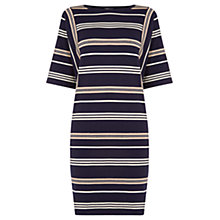 Buy Warehouse Stripe Jumper Dress, Navy Online at johnlewis.com
