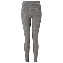 Buy Miss Selfridge Pow Check Tube Trousers, Multi Online at johnlewis.com