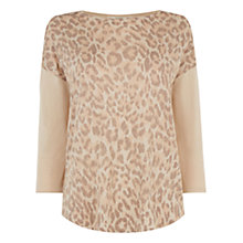 Buy Oasis Animal Wrap Back Jumper, Light Neutral Online at johnlewis.com