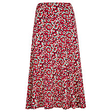 Buy Viyella Scatter Leaf Jersey Skirt, Red Online at johnlewis.com