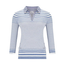 Buy Viyella Stripe Pocket Polo Top, Blue Online at johnlewis.com