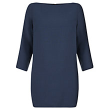 Buy Jigsaw Double Crepe Vented Tunic Dress, Prussian Blue Online at johnlewis.com