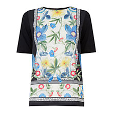 Buy Warehouse Botanical Placement Tee, Multi Online at johnlewis.com