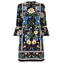 Buy Warehouse Botanical Floral Dress, Black Online at johnlewis.com