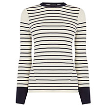 Buy Warehouse Breton Stripe Jumper, Navy Online at johnlewis.com