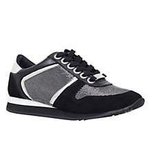 Buy Carvela Lennie Lace Up Trainers, Black Online at johnlewis.com