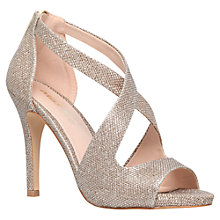 Buy Miss KG Shae Occasion Stiletto Heeled Sandals, Gold Online at johnlewis.com