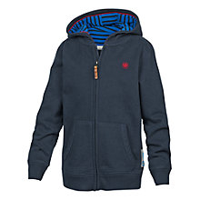 Buy Fat Face Boys' Van Print Zip Through Hoodie, Blue Online at johnlewis.com