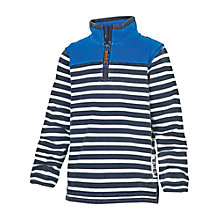 Buy Fat Face Boys' Jamie Stripe Half Neck Sweatshirt, Blue Online at johnlewis.com