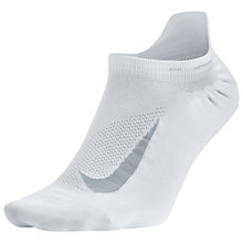 Buy Nike Unisex Elite Lightweight No-Show Running Sock, White/Wolf Grey Online at johnlewis.com