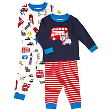 Buy John Lewis Baby Dog and London Pyjamas, Pack of 2, Navy Online at johnlewis.com