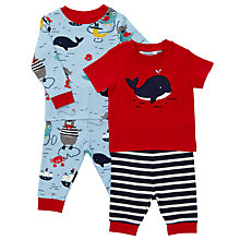 Buy John Lewis Baby Sea Friends Print Pyjamas, Pack of 2, Blue Online at johnlewis.com