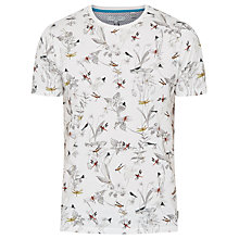 Buy Ted Baker Dragfly Dragonfly Print T-Shirt, Ecru Online at johnlewis.com