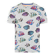 Buy Ted Baker Fish Print T-Shirt, Grey Online at johnlewis.com
