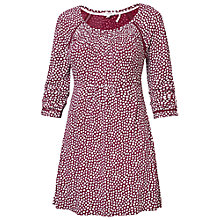 Buy Fat Face Fernhurst Ditsy Tunic Top, Garnet Online at johnlewis.com