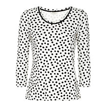 Buy Hobbs Stephanie Top, Ivory/Black Online at johnlewis.com