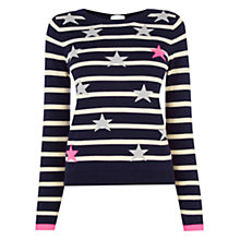 Buy Oasis Stars And Stripes Jumper, Navy/Multi Online at johnlewis.com
