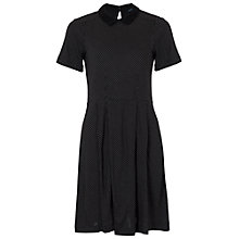 Buy French Connection Polka Dot Tea Dress, Black/White Online at johnlewis.com
