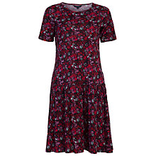 Buy French Connection Marylin Drop Waist Dress, Red Online at johnlewis.com