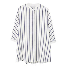 Buy Mango Oversized Striped Shirt, Navy Online at johnlewis.com