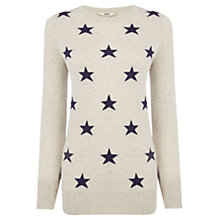 Buy Oasis Star Jumper, Neutral/Navy Online at johnlewis.com