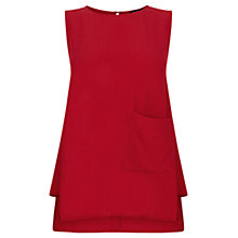 Buy Warehouse Easy Pocketed Shell Top, Red Online at johnlewis.com