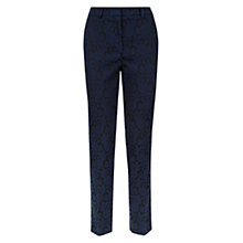 Buy Hobbs Ellis Jacquard Trousers, Navy/Black Online at johnlewis.com