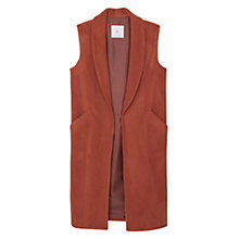 Buy Mango Side Pocket Wool-Blend Waistcoat, Medium Brown Online at johnlewis.com