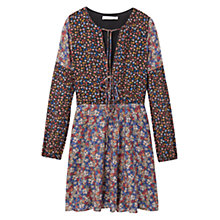 Buy Mango Floral Print Dress, Black Online at johnlewis.com