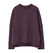 Buy Mango Cotton Sweatshirt, Dark Purple Online at johnlewis.com