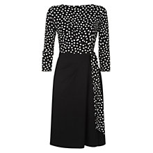 Buy Hobbs Tanya Tie Waist Dress, Black/Ivory Online at johnlewis.com