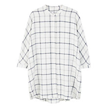 Buy Mango Checked Shirt, Light Beige Online at johnlewis.com