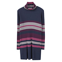 Buy Mango Striped Cotton Dress, Medium Purple Online at johnlewis.com