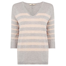 Buy Oasis Block Stripe Jumper, Multi Online at johnlewis.com