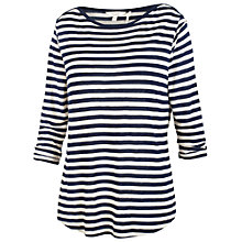 Buy Fat Face Stripe Boat Neck T-Shirt Online at johnlewis.com